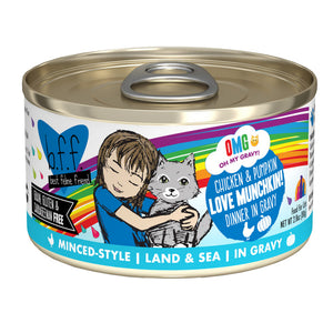 B.F.F. Cat Canned - OMG Love Munchkin! - Chicken & Pumpkin