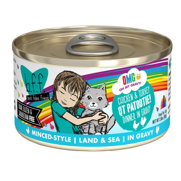 B.F.F. Cat Canned - OMG QT Patootie! - Chicken & Turkey