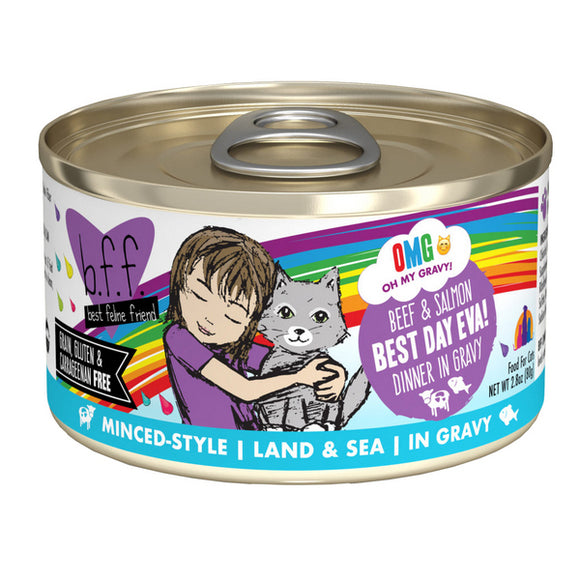 B.F.F. Cat Canned - OMG Best Day Eva! - Beef & Salmon
