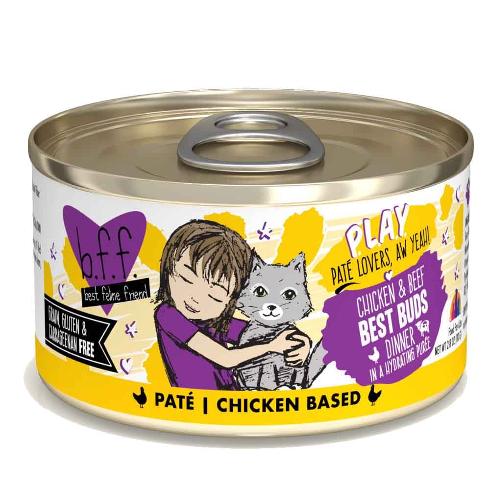 B.F.F. Cat Canned - PLAY Pate Best Buds - Chicken & Beef