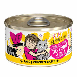 B.F.F. Cat Canned - PLAY Pate Take a Chance - Chicken, Duck & Turkey