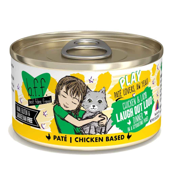 B.F.F. Cat Canned - PLAY Pate Laugh Out Loud - Chicken & Lamb