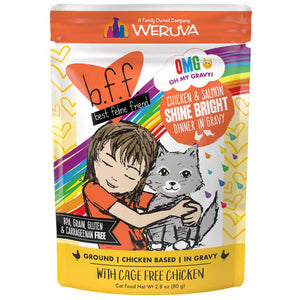 B.F.F. Cat Pouch - OMG Shine Bright - Chicken & Salmon