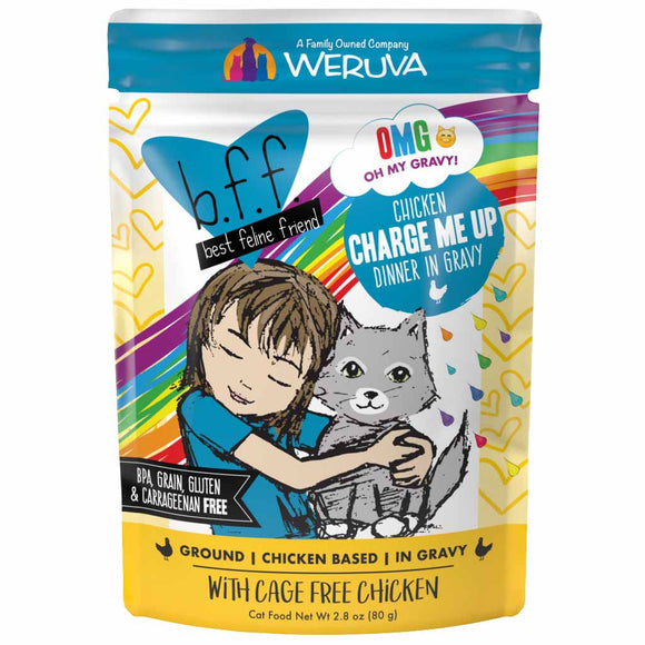 B.F.F. Cat Pouch - OMG Charge Me Up - Chicken