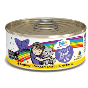 B.F.F Cat Canned - OMG Be Happy - Chicken & Beef