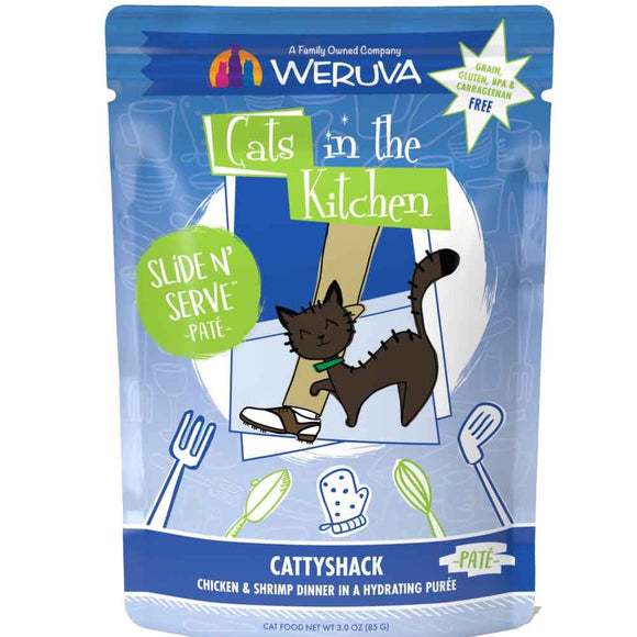 Cats in the Kitchen Pouch - Cattyshack - Chicken & Shrimp