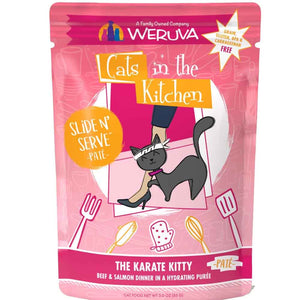Cats in the Kitchen Pouch - Karate Kitty - Beef & Salmon