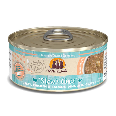 WERUVA Cat Canned- Stews Clues - Turkey, Chicken & Salmon