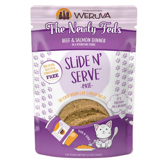 WERUVA Cat Pouch - The Newly Feds - Beef & Salmon