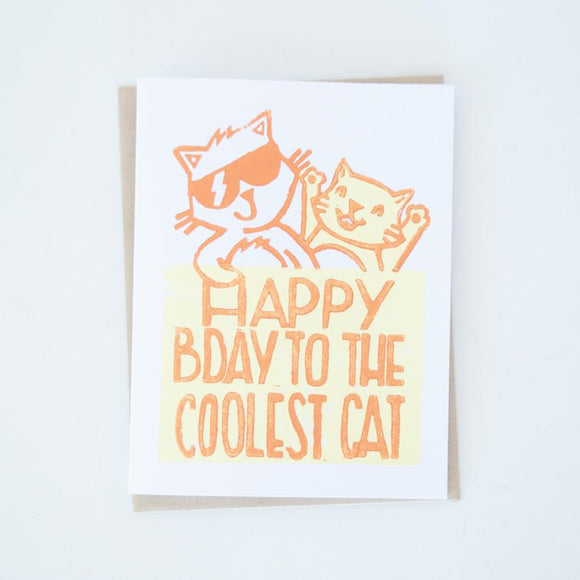 Card - Birthday Cool Cat