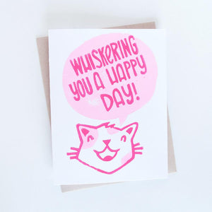 Card - Whiskering you a Happy Day