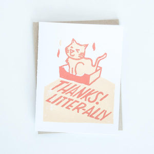 Card - Thank you Cat Litter