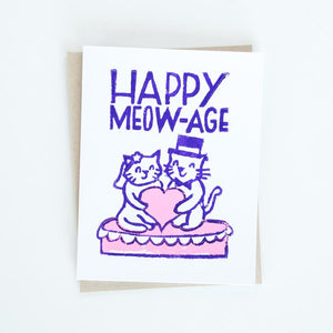 Card - Happy Meow-Age Wedding