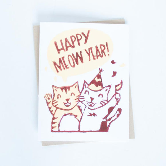 Card - Happy New Year Kitty Cat