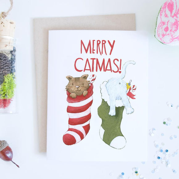 Card - Merry Catmas Kitty Stocking Stuffer