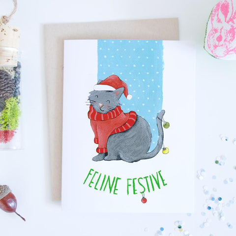 Card - Feline Festive Kitty