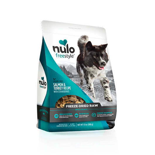 NULO Dog Food Freeze-Dried Raw - Salmon & Turkey with Strawberries