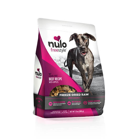 NULO Dog Food Freeze-Dried Raw - Beef with Apples