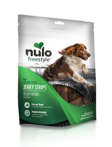 NULO Dog Treats Jerky Strips - Duck with Plums