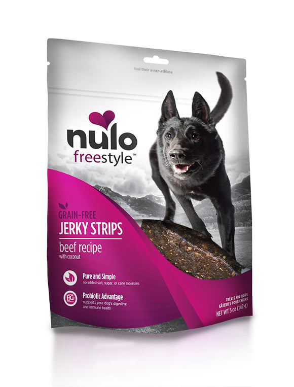 NULO Dog Treats Jerky Strips - Beef with Coconut