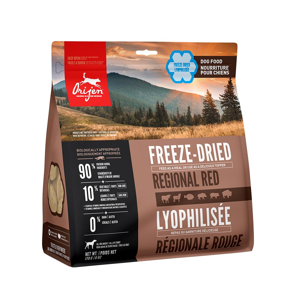 ORIJEN Dog Food Freeze Dried - Regional Red