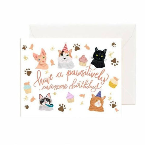 Card - Have a Pawsitively Awesome Birthday