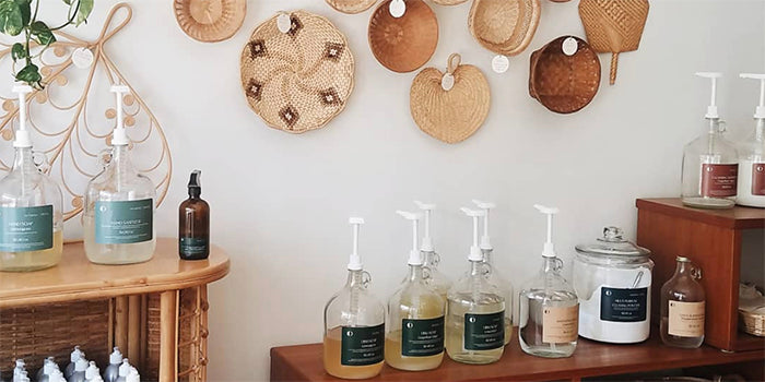 Refillable soaps at Dharma + Dwell in Webster Groves, MO