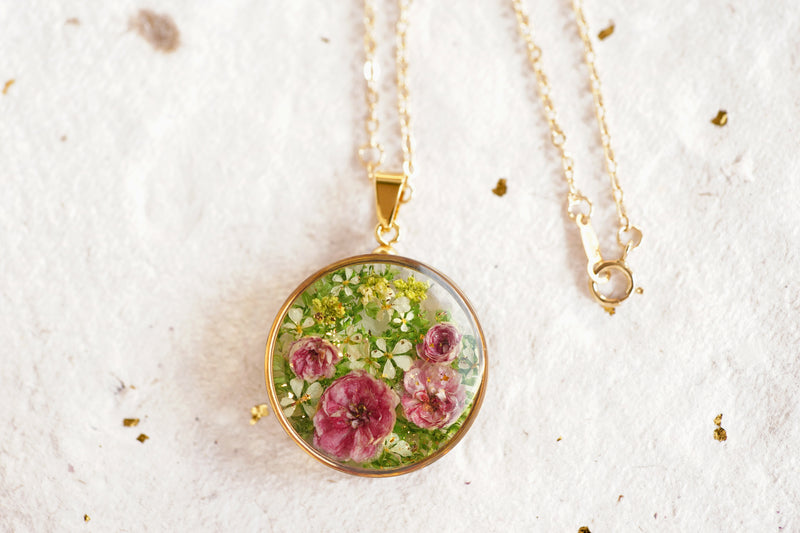 'DANCE OF ROSES' PETIT NECKLACE IN 14K GOLD-FILLED