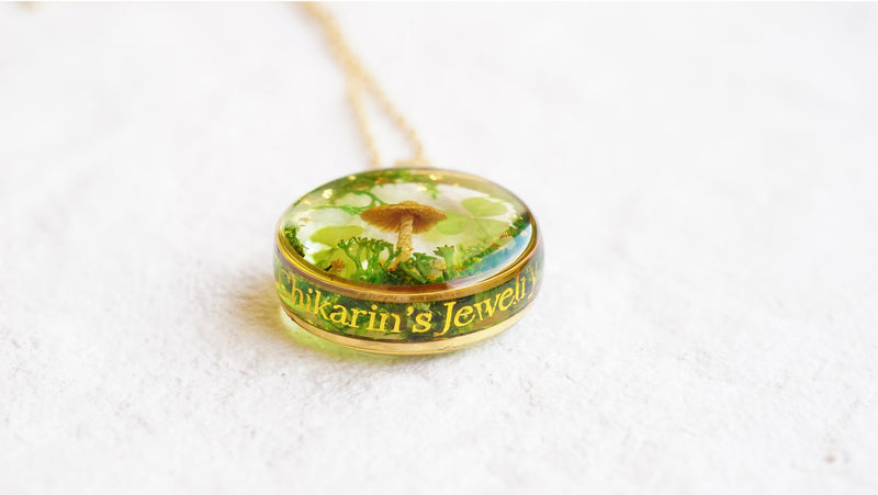 'SECRET CLOVER GARDEN' PETIT NECKLACE IN 14K GOLD FILLED