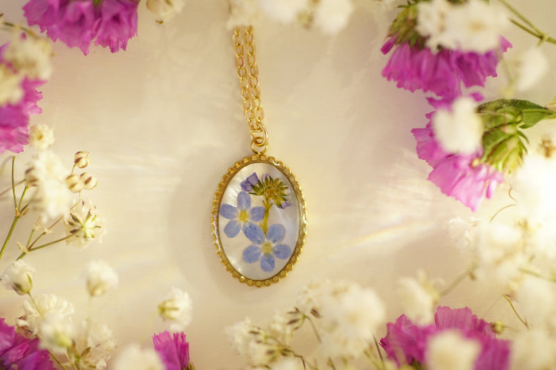 'Queen's Garden' flower necklace in 14K Gold-filled