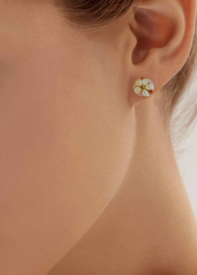 'Shiroi' flowers earrings