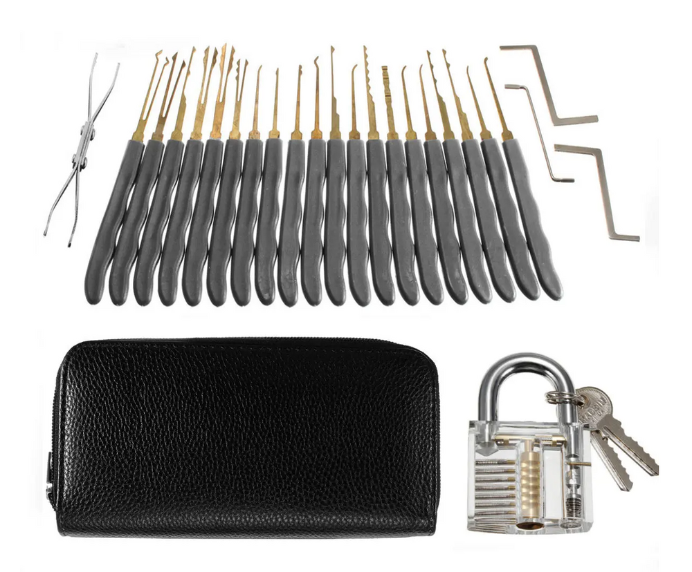 Professional Lock Pick Locksmith Tool Set 26Pcs Padlock Unlocking Tools
