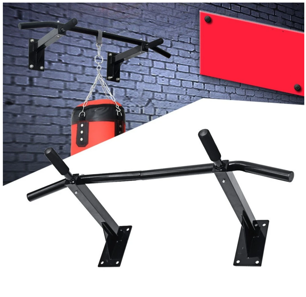 XtremeFit™ Wall Mounted Pull Up Chin Up Bar For Home Gym Workouts