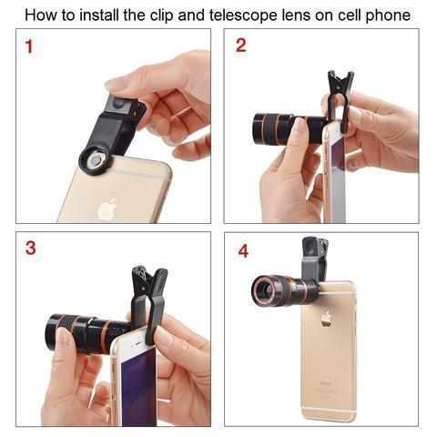 ThinkZoom™ 12x Zoom Telephoto HD Camera Lens for iPhone, Samsung and Android Smartphones