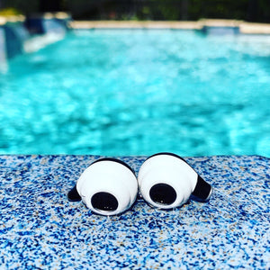 TWS wireless earbuds headphones waterproof pool