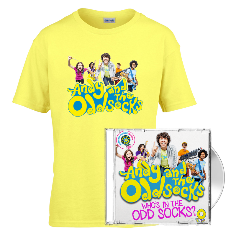 Who's In The Odd Socks? CD & Photo Yellow Tee
