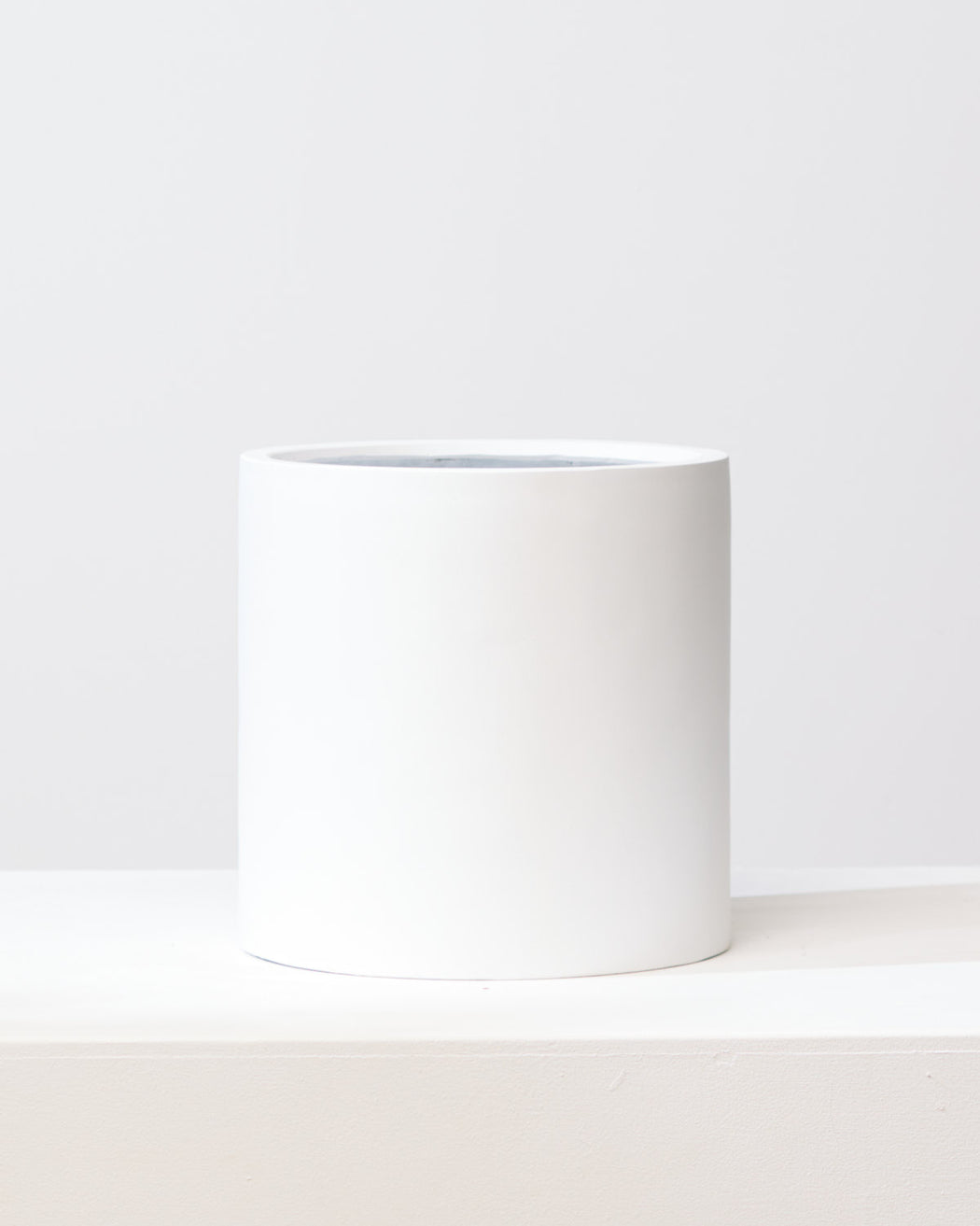 COMMON HOUSE - WHITE CYLINDER PLANTER - Medium 12 Inch