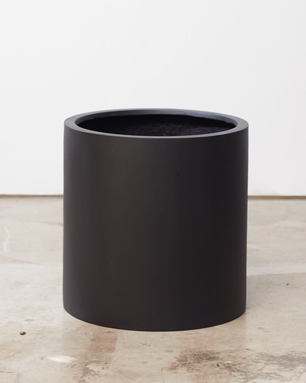 COMMON HOUSE - BLACK CYLINDER PLANTER - Large 16 Inch