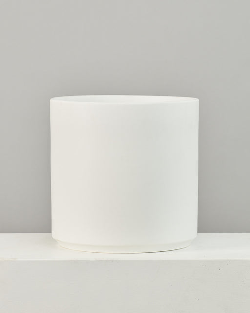 14 Inch REVIVAL CERAMICS CYLINDER - WHITE - Large
