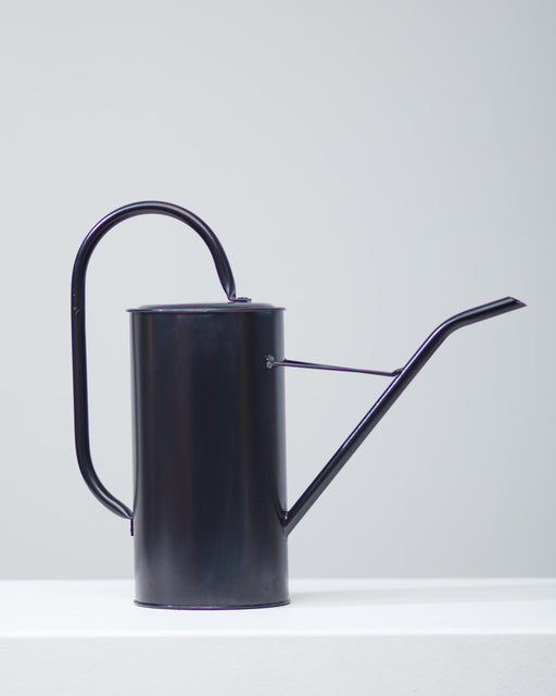 BLACK WATERING CAN - TALL