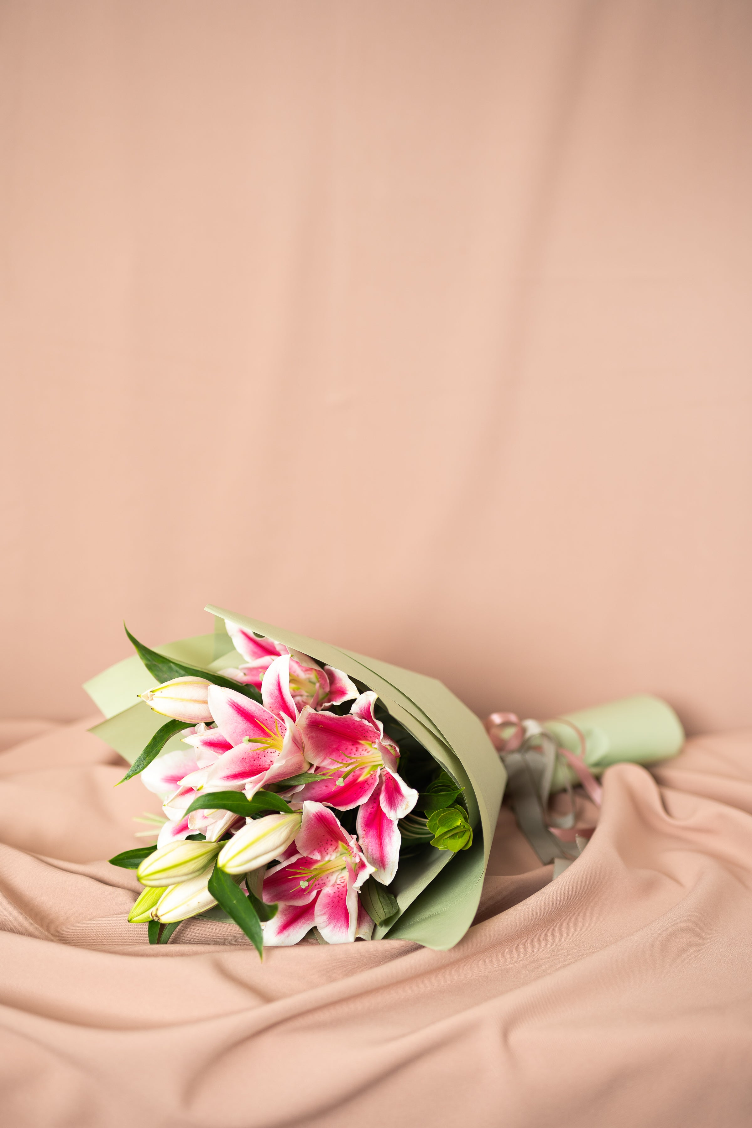 Pink Lily Bouquet - Spruce Florals & Events