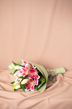 Load image into Gallery viewer, Pink Lily Bouquet - Spruce Florals & Events