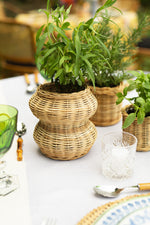 Load image into Gallery viewer, Geometric Wicker Planter by Tropicale