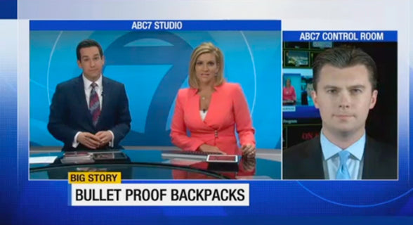 ABC 7: Bulletproof backpacks look to protect children from school shootings