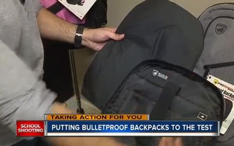 EXCLUSIVE: Testing out the sold out bulletproof backpacks made in Florida