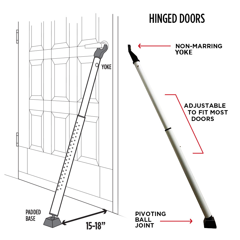 Door Keeper - Adjustable Non-Slip Door Blocker - 2 Pack