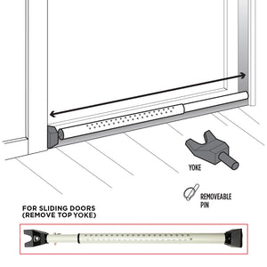 Adjustable Door Keeper With Sliding Door Capability - 2 Pack