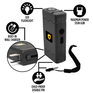 Compact Stun Gun Flashlight - Disabler