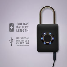 Load image into Gallery viewer, Biometric Padlock with Fingerprint Access