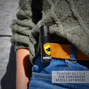 1/2 oz. Pepper Spray with Collar Clip